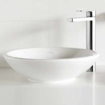 Villeroy and Boch Loop & Friends Circular Surface Mounted Washbasin