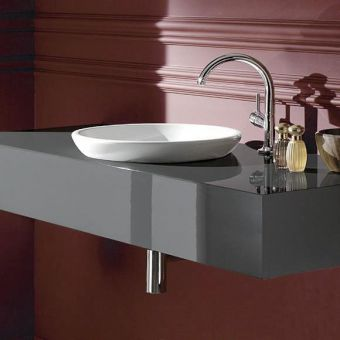 Villeroy and Boch Loop & Friends Circular Semi-Surface Mounted Washbasin