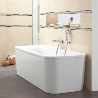 Villeroy and Boch Loop & Friends Curved Rectangular Double Ended Bath
