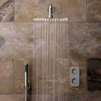 Vado Altitude Concealed Thermostatic Shower Valve with Overhead and Mini Shower Kit