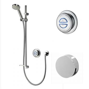 Aqualisa Quartz Smart Concealed Shower with Adjustable Head & Overflow Bath Filler