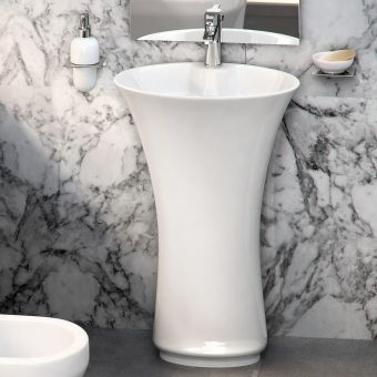 Britton Curve Freestanding one-piece Basin