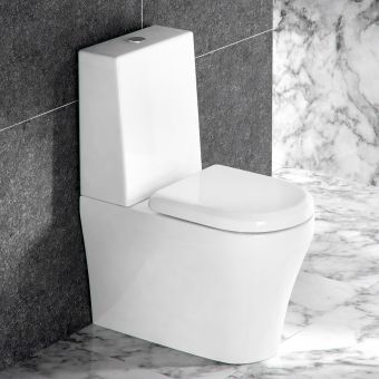 Britton Fine Close Coupled Toilet (One Piece Cistern)