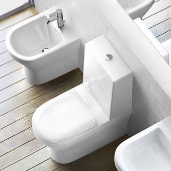 Britton Curve Close Coupled Toilet (One Piece Cistern)