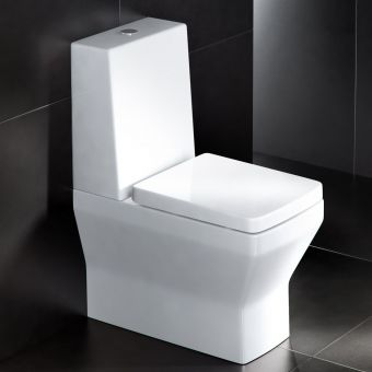 Britton Cube Close Coupled Toilet (One Piece Cistern)