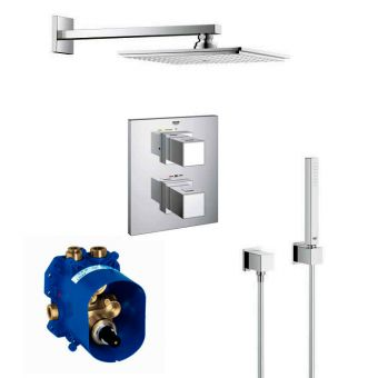 Grohe Grohtherm Cube Perfect Thermostatic Shower Set