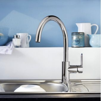 Grohe BauEdge Single Lever Kitchen Mixer Tap