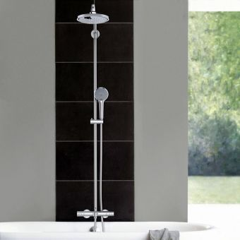 Grohe Euphoria System 180 Thermostatic Shower with Bath Filler