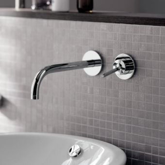 AXOR Uno Wall Mounted Basin Mixer Tap, 165 mm Spout