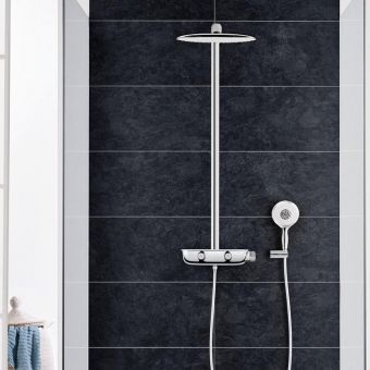 grohe smartcontrol double thermostatic round valve uk bathrooms. Black Bedroom Furniture Sets. Home Design Ideas