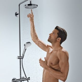 Hansgrohe Croma Select S 180 2jet Showerpipe Set