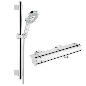Grohe Grohtherm 2000 Thermostatic Shower Mixer with Power&Soul Cosmopolitan Shower Set