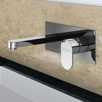 Pegle strata blade wall mounted basin mixer