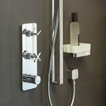 AXOR Citterio E Thermostatic Shower Finish Set with 2 Outlets