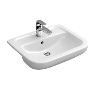 Abacus D-Style Semi-recessed Washbasin