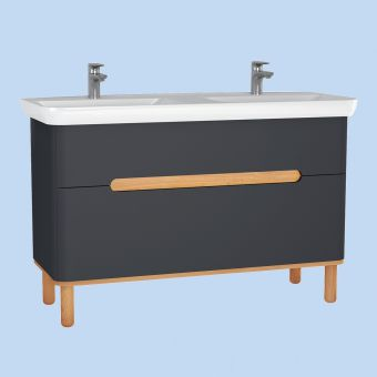 Vitra Sento Couble Vanity Unit, with 2 Drawers
