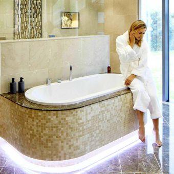 Abacus Bathrooms Series 1 Oval Inset Double Ended Bath - VEBA-15-1505