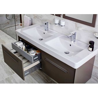 Abacus Simple Wall-hung Twin Vanity Unit