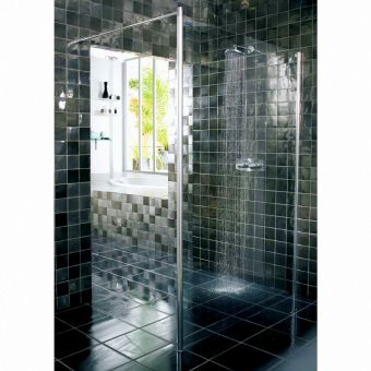 Showerlux Urban Chic Flat Wetroom Panel With Wall Support