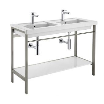 Roca Prisma 1200mm Double Basin with Metal Structure - 856750001