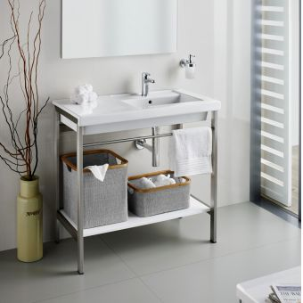 Roca Prisma 900mm Basin with Metal Structure