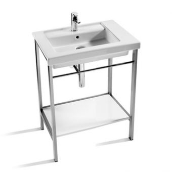 Roca Prisma 600mm Basin with Metal Structure - 856746001