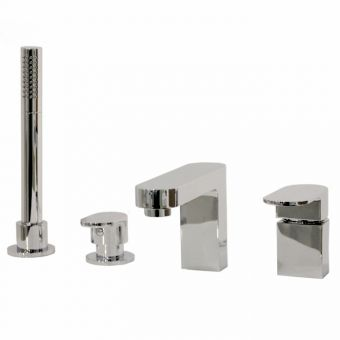 Abacus Ki 4 Hole Bath Filler with Pull-out Handshower