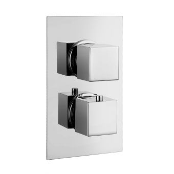 Abacus Emotion Chrome Square Thermostatic Shower Valve