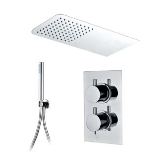 Abacus Emotion Shower Package, with Rectangle Head & Handshower E07