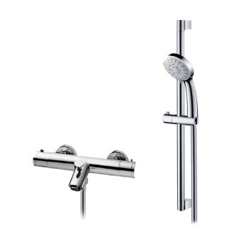 Abacus Emotion Exposed Bath Shower Mixer Tap with Riser Rail Kit E11