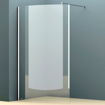 Abacus E Series Walk In Curved Shower Screen - VEGE-12-1105