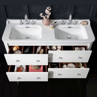 Bauhaus Waldorf Double Vanity Unit, Wall Hung