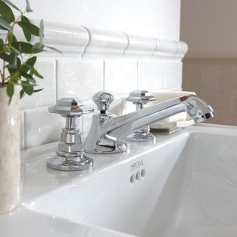 Imperial Niveau 3 Hole Basin Mixer Tap