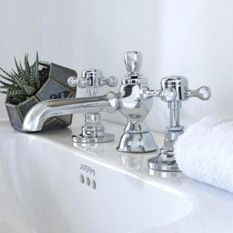 Imperial Victorian 3 Hole Basin Mixer Tap