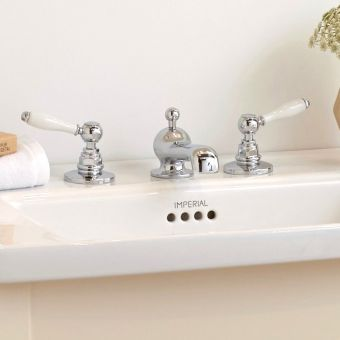 Imperial Crown Lever 3 hole Basin Mixer