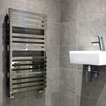Abacus Kubik Mini Stainless Steel Towel Radiator