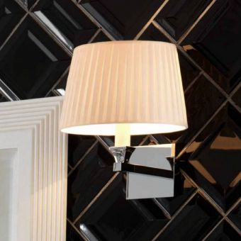 Imperial Astoria Wall Lamp with Round Flat Cotton Shade