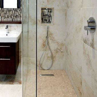 Abacus Level Access Shower Base, with 300mm Linear Drain