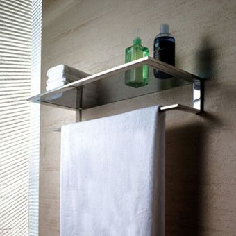 Abacus Pure Stainless Steel Shelf with Towel Bar