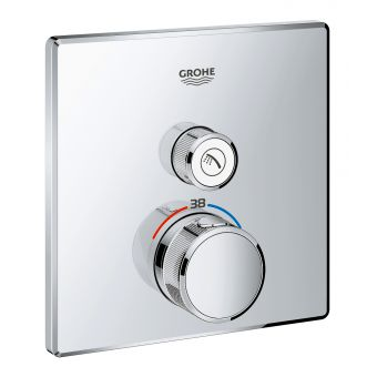 Grohe SmartControl Single Thermostatic Square Valve