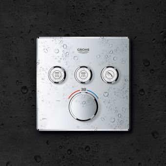 Grohe SmartControl Triple Thermostatic Square Valve