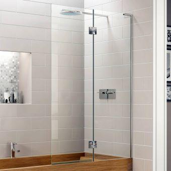 Matki EauZone Plus Inward Opening Two Panel Bath Screen