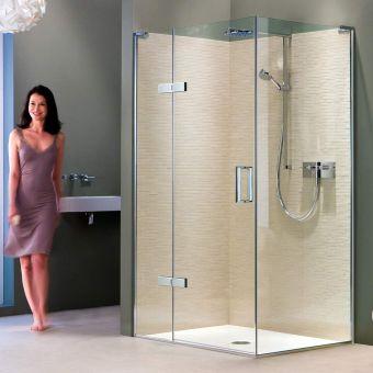 Matki EauZone Plus Hinged Shower Door with Hinge Panel for Corner