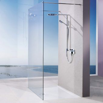 Matki EauZone Plus Twin Entrance Wet Room Panel with Bracing Bars