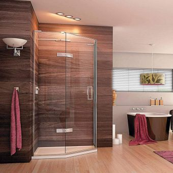 Matki EauZone Plus Quintesse Shower Enclosure with Hinged Door