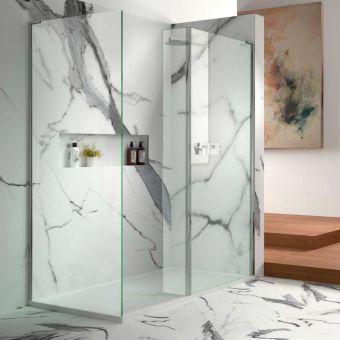 Matki Eauzone Plus Radius-20 Wet Room Panel