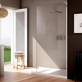 Matki EauZone Plus Wet Room Panel with Shower Tray