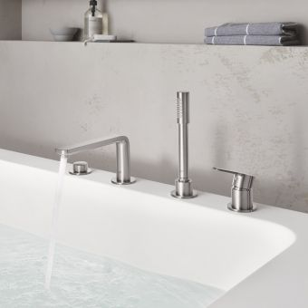 Grohe Lineare 4-hole Bath Mixer Tap with Shower Handset - 19577001