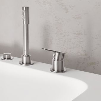 Grohe Lineare 3-hole Single Lever Bath Mixer Tap with Shower Handset