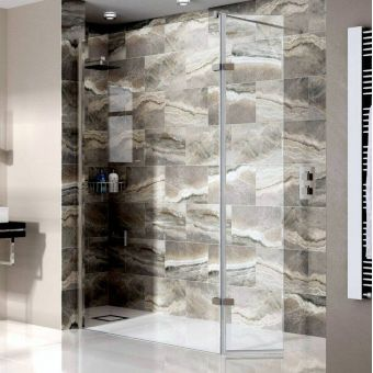 Aqata Spectra Wet Room Shower Screen with Hinged Panel SP446